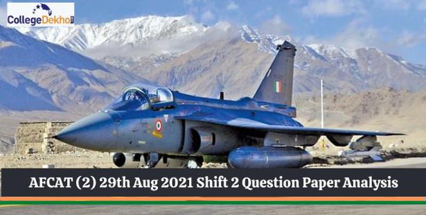 AFCAT (2) 29th Aug 2021 Shift 2 Question Paper Analysis
