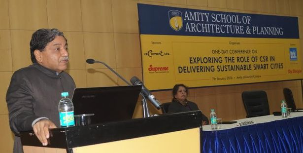 """Conference on """"Exploring the role of CSR in delivering Sustainable Smart Cities"""" organized at Amity University"""