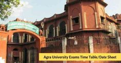 Agra University Main/Annual Exams 2019-20 Date Sheet, Time Table, PDF Download