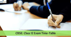CBSE 12th Board Exam Date Sheet 2020, Time Table, Schedule