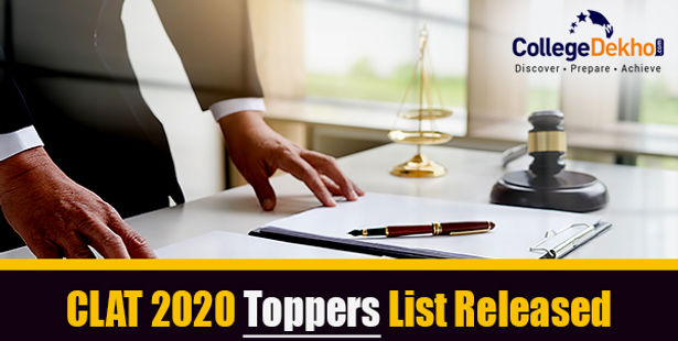 List of CLAT Toppers 2021 (UG & PG) - Check Toppers AIR and Marks Details