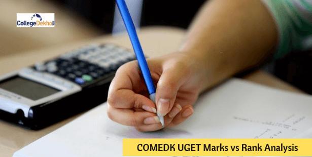 COMEDK UGET Marks vs Rank Analysis