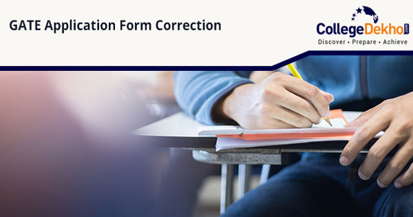 GATE Application Form Correction Process