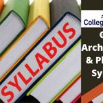 GATE Architecture and Planning Syllabus 2021