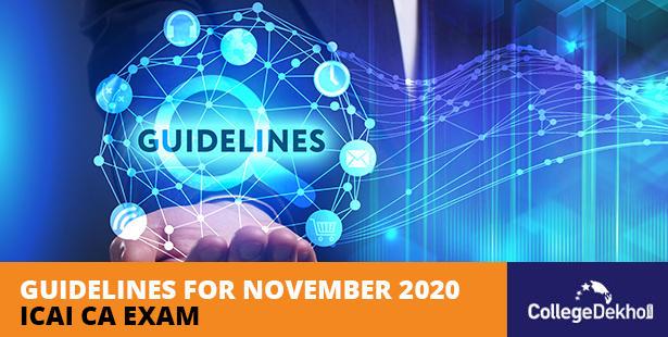 ICAI Guidelines CA November 2020 Exam