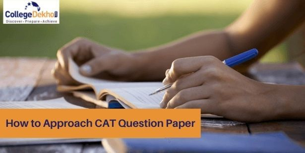 Person with pen in hand studying for the CAT exam