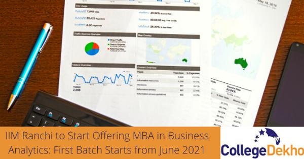IIM Ranchi MBA in Business Analytics