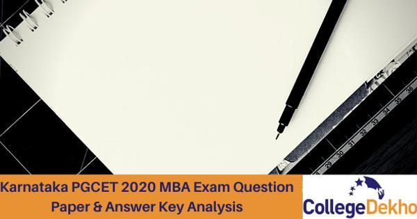 Karnataka PGCET 2020 MBA Exam Question Paper & Answer Key Analysis