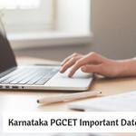Karnataka PGCET Important Dates