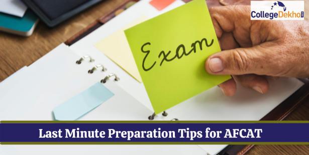 Last Minute Preparation Tips for AFCAT