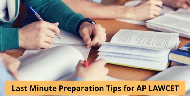 Last Minute Preparation Tips for AP LAWCET 2021