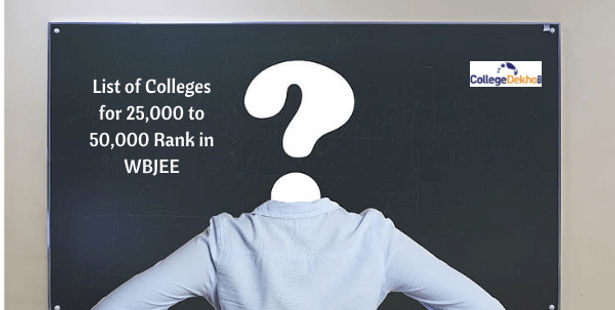 List of Colleges for 25,000 to 50,000 Rank in WBJEE