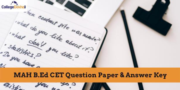 MAH B.Ed CET 2021 Question Paper