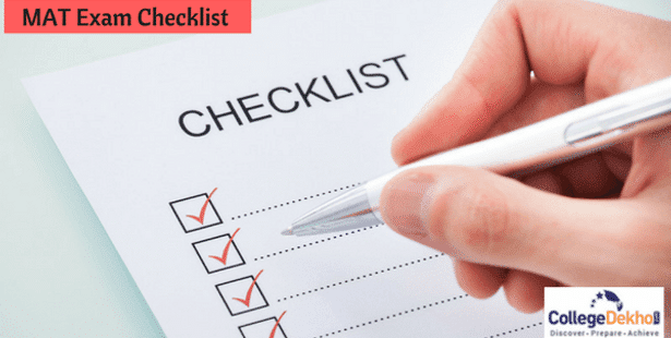 MAT 2021 Exam Day Checklist - What To Do Before MAT 2021