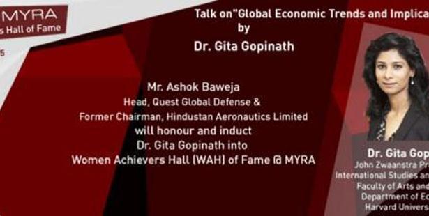 Myra School of Business, Mysuru to organise talk on global economic trends by Dr. Gita Gopinath