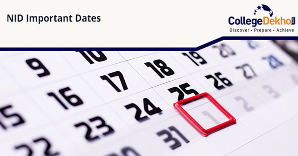 NID DAT Important Dates