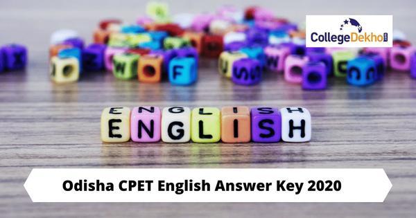 Odisha CPET 2020 English Answer Key