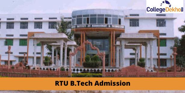 Rajasthan Technical University (RTU) B.Tech Admission 2021