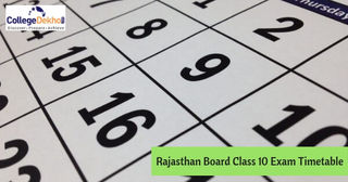 Rajasthan Board 10th Exam Date Sheet 2019, Timetable