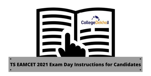 TS EAMCET 2021 Exam Day Instructions for Candidates