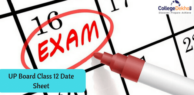UP Board Intermediate (12th) Exam Date Sheet 2019, Time Table