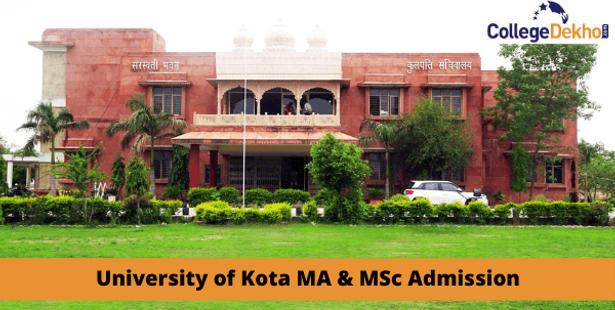 University of Kota MA M.Sc Admission 2021