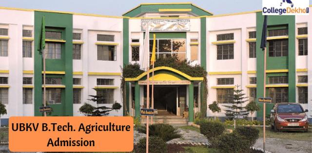 Uttar Banga Krishi Viswavidyalaya (UBKV) B.Tech Agriculture Admission 2019