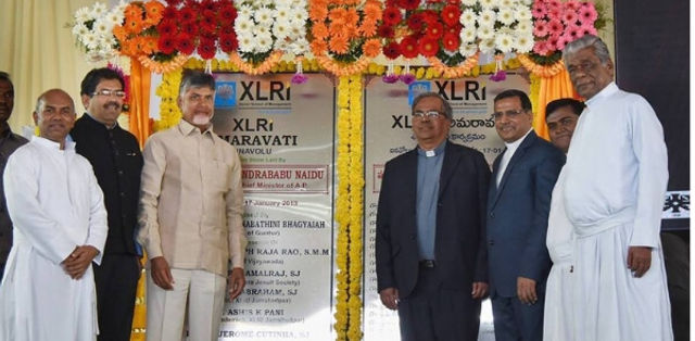 Andhra Pradesh CM Lays Foundation Stone for XLRI Amaravati