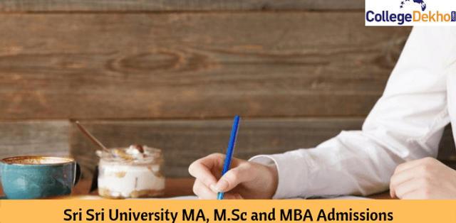 Sri Sri University MA, M.Sc and MBA Admissions 2020: Important Dates, Eligibility, Application