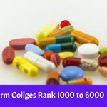 MP B.Pharm Collges Rank 1000 to 6000