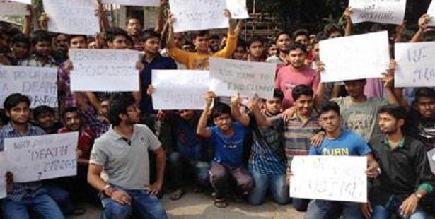 NIT Durgapur Students Took Out Candle Light Protest March