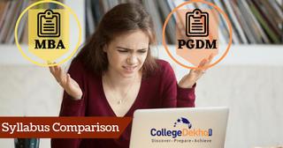 Syllabus of MBA vs Syllabus of PGDM
