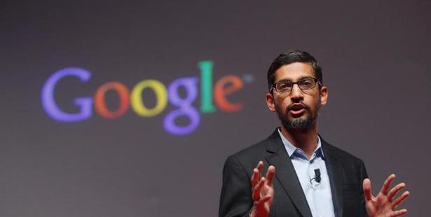Google CEO Sundar Pichai addresses students at the SRCC