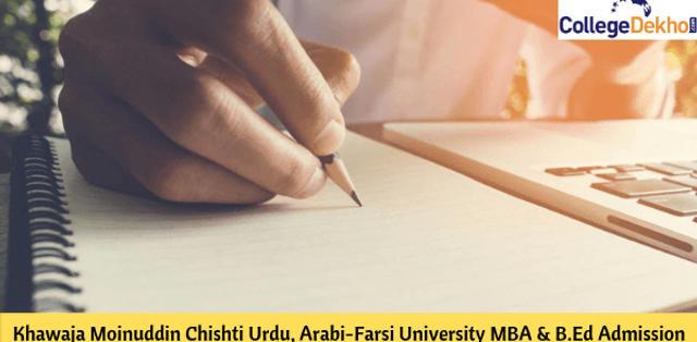 Khwaja Moinuddin Chishti Urdu, Arabi-Farsi University MBA Admission 2020